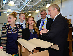 The Duke of York & Boris Johnson College Opening.<br /> The Duke of York during the opening of the Royal Greenwich University Technical College. The new regional academy will develop the skills of 14-19 year olds in engineering and construction, alongside their core academic education, London, United Kingdom. Thursday, 24th October 2013. Picture by Nils Jorgensen / i-Images