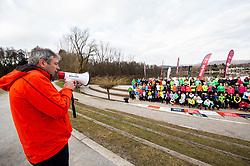 David Skabar, zupan Sezane, Priprave za Ljubljanski maraton 2019 v sodelovanju s sezanskim Malim kraskim maratonom, on March 9, 2019, in Mostec, Ljubljana, Slovenia. Photo by Vid Ponikvar / Sportida