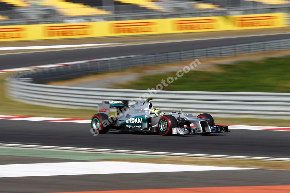Nico Rosberg (Mercedes) during practice for the 2012 Korean Grand Prix in Yeongam. Photo: Grand Prix Photo