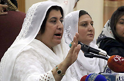 August 2, 2017 - Pakistan - PESHAWAR, PAKISTAN, AUG 02: Tehreek-e-Insaf (PTI) leader, MPA Zareen Zia Khan .Marwat along with others addresses to media persons during press conference and demonstration .at Peshawar press club on Wednesday, August 02, 2017. (Credit Image: © PPI via ZUMA Wire)