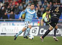 Tippeligaen 2012.<br /> 22.04.2012<br /> Sandnes Ulf v Stabæk.<br /> Sandnes Stadion, Sandnes, Norge.<br /> Foto. Simon Rogers, Digital Sport.<br /> <br /> Sandnes. Steinthor Freyr Thorsteinsson.<br /> Stabæk. Sean Cunningham
