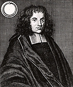 Baruch (Benedict) Spinoza (Spinosa or Despinosa - 1632-1677) Dutch philosopher born in Amsterdam into a Jewish family who had fled Roman Catholic persecution in Portugal. Expelled from the Jewish community in 1656 for heresy. Interested in optics, astronomy and theology in addition to philosophy.     From 'Icones Virorum' by Friedrich Roth-Scholtz (Nuremberg, 1725).