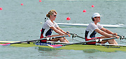 St Catherines, CANADA,  Women's Double Sculls USA W2X. Bow, Cindy BROOKS  and Carol SKRICKI,  competing at the 1999 World Rowing Championships - Martindale Pond, Ontario. 08.1999..[Mandatory Credit; Peter Spurrier/Intersport-images]  ..[Mandatory Credit; Peter Spurrier/Intersport-images]  .. 1999 FISA. World Rowing Championships, St Catherines, CANADA