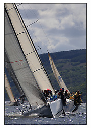 The final days racing at the Bell Lawrie Yachting Series in Tarbert Loch Fyne ..The overall winners were decided in most classes on the last days racing...Farr 45 GBR50 Struan and Farr 45 GBR745R Wolf Fetch to the topmark in Class one.