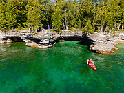 Photograph of Cave Point County Park, Sturgeon Bay, Door County, Wisconsin, USA.