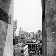 Macau as seen from a window's archway of the Ruins of St. Paul's. Photo: © Rod Mountain