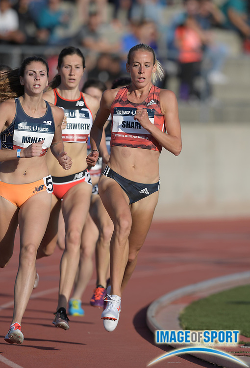 May 17, 2018; Los Angeles, CA, USA; Lynsey Sharp (GBR) places third in women's 800m heat in 2:03.84 during the USATF Distance Classic at Occidental College.
