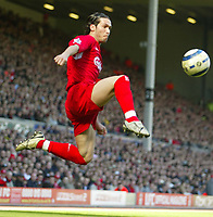 Photo: Aidan Ellis.<br /> Liverpool v Bolton Wanderers. The Barclays Premiership. 09/04/2006.<br /> Liverpool's Luis Garcia