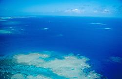 Luftbild von Korallenriffen, air photograph of coral reef, Tonga