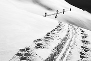 Impressionen einer Skitourenwoche im Gebiet der Rotondo-Hütte. Aufstieg auf den Cavanna-Pass.