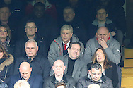 Arsene Wenger, the Arsenal manager watching from the stands. Premier league match, Chelsea v Arsenal at Stamford Bridge in London on Saturday 4th February 2017.<br /> pic by John Patrick Fletcher, Andrew Orchard sports photography.