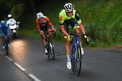 October 8, 2017 - Tours, France - TOURS, FRANCE - OCTOBER 8 : NAESEN Lawrence (BEL) Rider of WB Veranclassic AquaProtect, VAN GOETHEM Brian (NED) Rider of Roompot - Nederlandse Loterij during the 111th edition of the Paris-Tours cycling race with start in Brou and finish in Tours on October 08, 2017 in Tours, France, 8/10/2017 (Credit Image: © Panoramic via ZUMA Press)
