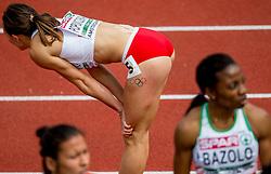 07-07-2016 NED: European Athletics Championships, Amsterdam<br /> Marika POPOWICZ-DRAPALA POL, Olympische ringen tattoo, missing one ring