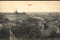 Zagreb.  <br /> <br /> ImpresumZagreb : Tiskara V. Novotni, [1909].<br /> Materijalni opis1 razglednica : tisak ; 9,1 x 14 cm.<br /> Mjesto izdavanjaZagreb<br /> Vrstarazglednice<br /> ZbirkaZbirka razglednica • Grafička zbirka NSK<br /> ProjektPozdrav iz Hrvatske<br /> Formatimage/jpeg<br /> PredmetPanoramska fotografija<br /> PredmetZagreb<br /> Jezikhrvatski<br /> SignaturaRZG-PAN-12<br /> Obuhvat(vremenski)20. stoljeće<br /> NapomenaRazglednica je putovala 1909. godine<br /> PravaJavno dobro<br /> Identifikatori000925597<br /> NBN.HRNBN: urn:nbn:hr:238:459438 <br /> <br /> Izvor: Digitalne zbirke Nacionalne i sveučilišne knjižnice u Zagrebu