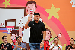 The ex-NBA star Yao Ming attends the opening ceremony of 2017 Yao Foundation Hope Primary School Basketball Season held in Nanjing City, east China¡¯s Jiangsu Province, Aug. 15, 2017. (Photo by Top Photo)