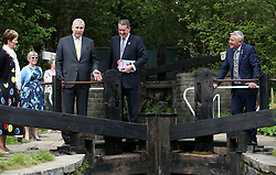 The Duke of York visiting the Welcome to Yorkshire garden during his visit to the RHS Chelsea Flower Show at the Royal Hospital Chelsea, London.