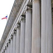 Columns on the US Department of the Treasury, Washington DC