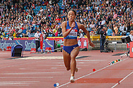 Katarina Johnson-Thompson (Great Britain), Women's Long Jump, during the Muller Grand Prix at the Alexander Stadium, Birmingham, United Kingdom on 18 August 2019.