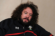 Adam Jones.Wales rugby team training at the Millennium stadium in Cardiff on Friday 10th Feb 2012.  pic by Andrew Orchard, Andrew Orchard sports photography,