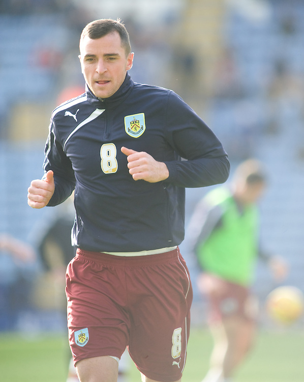 Burnley's Dean Marney during the pre-match warm-up <br /> <br /> Photo by Chris Vaughan/CameraSport<br /> <br /> Football - The Football League Sky Bet Championship - Leicester City v Burnley - Saturday 14th December 2013 - King Power Stadium - Leicester<br /> <br /> © CameraSport - 43 Linden Ave. Countesthorpe. Leicester. England. LE8 5PG - Tel: +44 (0) 116 277 4147 - admin@camerasport.com - www.camerasport.com