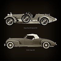 For the lover of old classic cars, this combination of a Hispano Suiza H6 Tulipwood 1924 and ZIS 101-A Sport 1939 is truly a beautiful work to have in your home.<br /> The classic Hispano Suiza H6  and the beautiful ZIS 101-A are among the most beautiful cars ever built.<br /> You can have this work printed in various materials and without loss of quality in all formats.<br /> For the oldtimer enthusiast, the series by the artist Jan Keteleer is a dream come true. The artist has made a fine selection of the very finest cars which he has meticulously painted down to the smallest detail. –<br /> -<br /> <br /> BUY THIS PRINT AT<br /> <br /> FINE ART AMERICA<br /> ENGLISH<br /> https://janke.pixels.com/featured/hispano-suiza-h6-tulipwood-1924-and-zis-101-a-sport-1939-jan-keteleer.html<br /> <br /> WADM / OH MY PRINTS<br /> DUTCH / FRENCH / GERMAN<br /> https://www.werkaandemuur.nl/nl/shopwerk/Hispano-Suiza-H6-Tulipwood-1924-en-ZIS-101-A-Sport-1939/754120/132?mediumId=1&size=60x60<br /> –