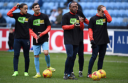 Coventry City's Jodi Jones (left), Coventry City's Ruben Lameiras (second left), Kyel Reid (second right) and George Thomas (right)