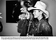 Maria Louisa and Jenny Shimizu at an Ellen von Unworth opening. New York. 1995. Film 8816.73f29<br />© Copyright Photograph by Dafydd Jones<br />66 Stockwell Park Rd. London SW9 0DA<br />Tel 0171 733 0108