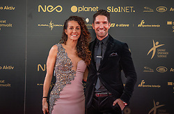 Natasa Gorenc and Jan Kovacic during SPINS XI Nogometna Gala 2019 event when presented best football players of Prva liga Telekom Slovenije in season 2018/19, on May 19, 2019 in Slovene National Theatre Opera and Ballet Ljubljana, Slovenia. ,Photo by Urban Meglic / Sportida
