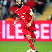 Turkey's Arda Turan during their UEFA Euro 2016 qualification Group A soccer match Turkey betwen Czech Republic at Sukru Saracoglu stadium in Istanbul October 10, 2014. Photo by Aykut AKICI/TURKPIX
