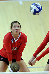 07 October 2017:  Lexi Wallen during a college women's volleyball match between the Crusaders of Valparaiso and the Illinois State Redbirds at Redbird Arena in Normal IL (Photo by Alan Look)