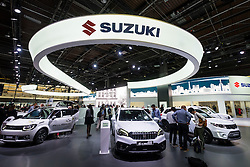View of Suzuki stand at Paris Motor Show 2016