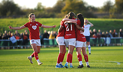 Abi Harrison of Bristol City scores a goal 1-0- Mandatory by-line: Nizaam Jones/JMP - 27/10/2019 - FOOTBALL - Stoke Gifford Stadium - Bristol, England - Bristol City Women v Tottenham Hotspur Women - Barclays FA Women's Super League
