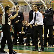 Banvit's coach Orhun Ene during their Turkish Basketball League match Anadolu Efes between Banvit at Ayhan Sahenk Arena in Istanbul, Turkey, Monday, October 15, 2012. Photo by TURKPIX