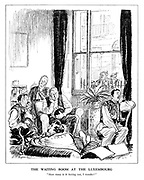 """The Waiting Room at the Luxembourg. """"How many is he having out, I wonder?"""""""