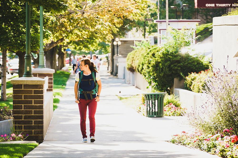 Amanda Cordell explores downtown Salt Lake City, Utah.