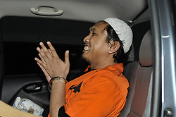 January 30, 2018 - Jakarta, Indonesia - The weapons smuggler for Indonesia terrorist network from Southern Philippines, Suryadi Mas'ud arrives at West Jakarta District Court in Jakarta, Indonesia on January 30, 2018. Suryadi Masu'd alias Abu Ridho is a Indonesian terrorist group connected to Southern Philippines, Jamaah Ansharut Daulah, Rio Priatna network, which omitted to the Islamic State in Iraq and Syria (IS/Daesh). The defendant was the recidivists of the Makassar Bombing case and the Aceh Military Training. Suryadi went to the Philippines seven times to buy firearms and deal with the leader of Anshor Daulah Philippines, Hapilon Isnilon. He bought 17 pieces weapon of M16 and 1 M14. Transactions in Nunukan by NK and Andi Baso. (Credit Image: © Anton Raharjo/NurPhoto via ZUMA Press)