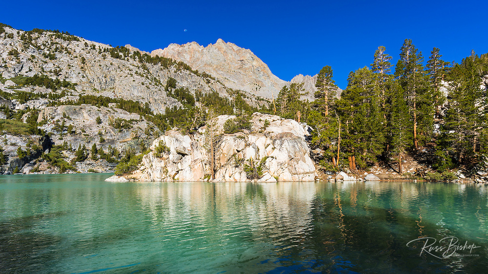 Second Lake under the Palisades, Big Pine Lakes basin, John Muir Wilderness, California USA