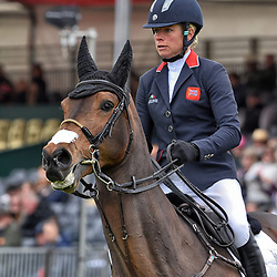 Izzy Taylor Badminton Horse Trials Gloucester England UK May 2019. Izzy Taylor equestrian eventing representing Great Britain riding Call Me Maggie May in the Badminton horse trials 2019. Badminton Horse trials 2019 Winner Piggy French wins the title