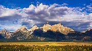 Clearing storm over the Teton Range, Grand Teton National Park, Wyoming USA
