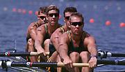 1996 Olympics Games - Atlanta – Georgia – USA, Australian Oarsome Foursome. AUS M4- , Stroke,  Mike McKay – 3 Nick Green -  2 James Tomkins  -  Bow  Drew Ginn