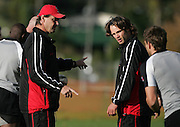 Head Coach Ric Suggitt and Captain Morgan Williams during the Canada rugby team training session, Auckland, New Zealand on Monday 11 June 2007. Photo: Hagen Hopkins/PHOTOSPORT