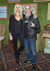 October 4, 2018 - Hollywood, California, U.S. - Scott Ian and Pearl Aday arrives for the HBO's 'My Dinner With Herve' Los Angeles Premiere on the Paramount Studios Lot. (Credit Image: © Lisa O'Connor/ZUMA Wire)