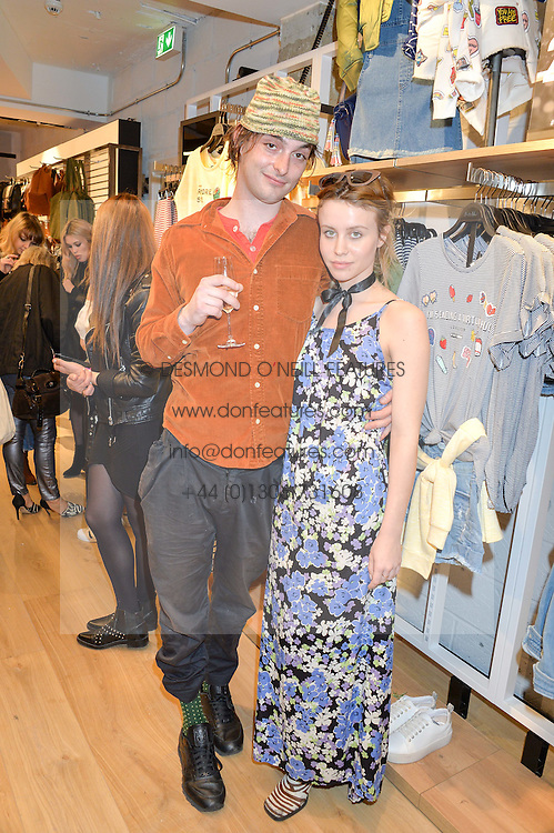 BILLIE JD PORTER and SAM ASHFORD at a party to relaunch the Bershka store at 221-223 Oxford Street, London on 17th March 2016.