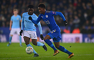 Demarai Gray of Leicester city in action .Carabao Cup quarter final match, Leicester City v Manchester City at the King Power Stadium in Leicester, Leicestershire on Tuesday 19th December 2017.<br /> pic by Bradley Collyer, Andrew Orchard sports photography.