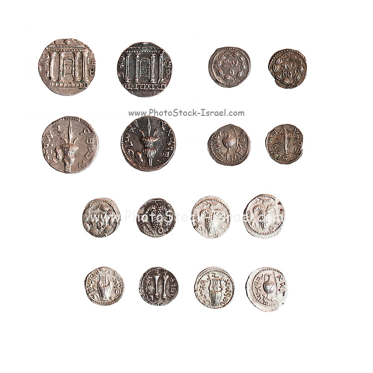 8 silver coins from the Shimon Bar Kokhba revolt 132-135 AD