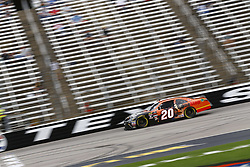 April 6, 2018 - Ft. Worth, Texas, United States of America - April 06, 2018 - Ft. Worth, Texas, USA: Christopher Bell (20) brings his race car down the front stretch during practice for the My Bariatric Solutions 300 at Texas Motor Speedway in Ft. Worth, Texas. (Credit Image: © Chris Owens Asp Inc/ASP via ZUMA Wire)