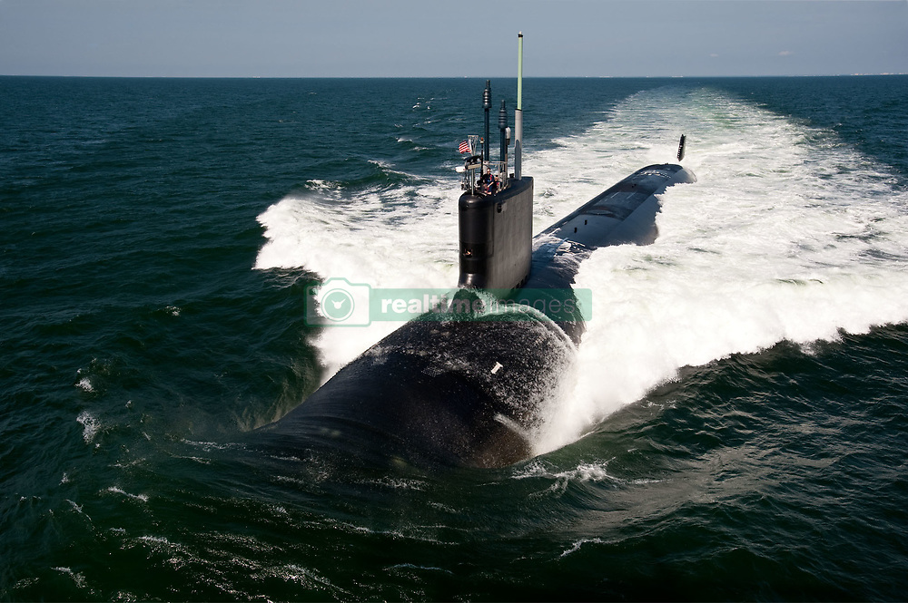 ATLANTIC OCEAN (June 30, 2011) The Virginia-class attack submarine USS California (SSN 781) underway during sea trials. (U.S. Navy photo by Chris Oxley/Released) 110630-N-ZZ999-002<br /> Join the conversation<br /> http://www.facebook.com/USNavy<br /> http://www.twitter.com/USNavy<br /> http://navylive.dodlive.mil