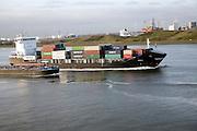 Shipping, Nieuwe Waterweg, ship canal between Maasluis and Hook of Holland, Netherlands