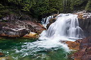 Lower Falls on Gold Creek at Golden Ears Provincial Park, Maple Ridge, British Columbia, Canada.