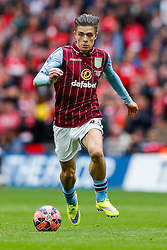 Jack Grealish of Aston Villa in action - Photo mandatory by-line: Rogan Thomson/JMP - 07966 386802 - 19/04/2015 - SPORT - FOOTBALL - London, England - Wembley Stadium - Aston Villa v Liverpool - FA Cup Semi Final.